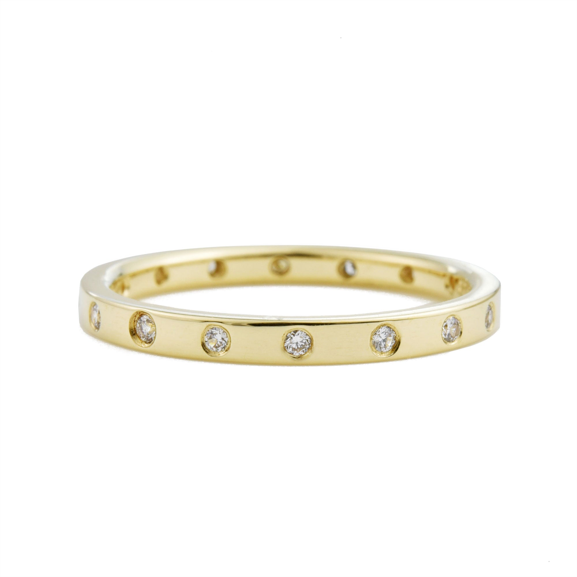 Flush Diamond Eternity Band (2mm band)