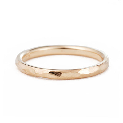 2mm Geo Wedding Band in rose gold