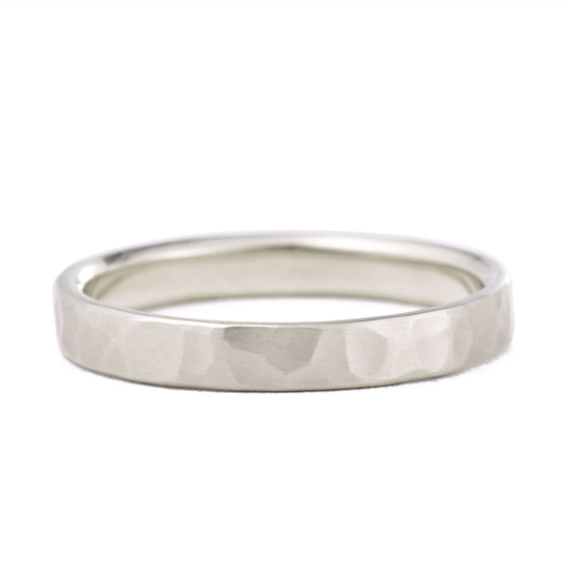 3mm Hammered Wedding Band