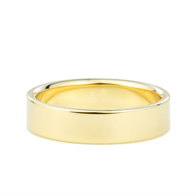 5mm Flat Wedding Band