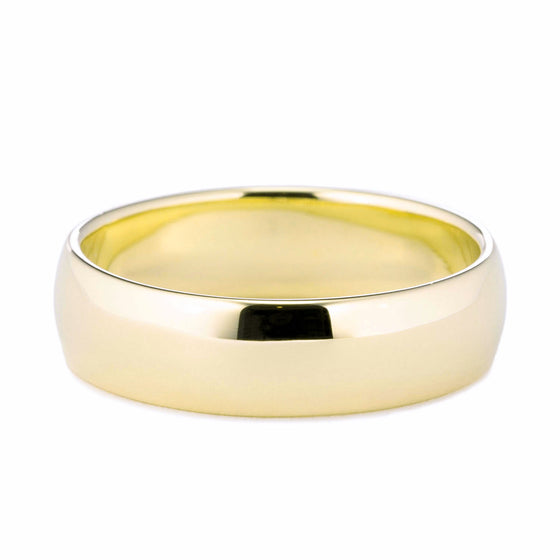 Men's Classic Domed Wedding Band 6mm