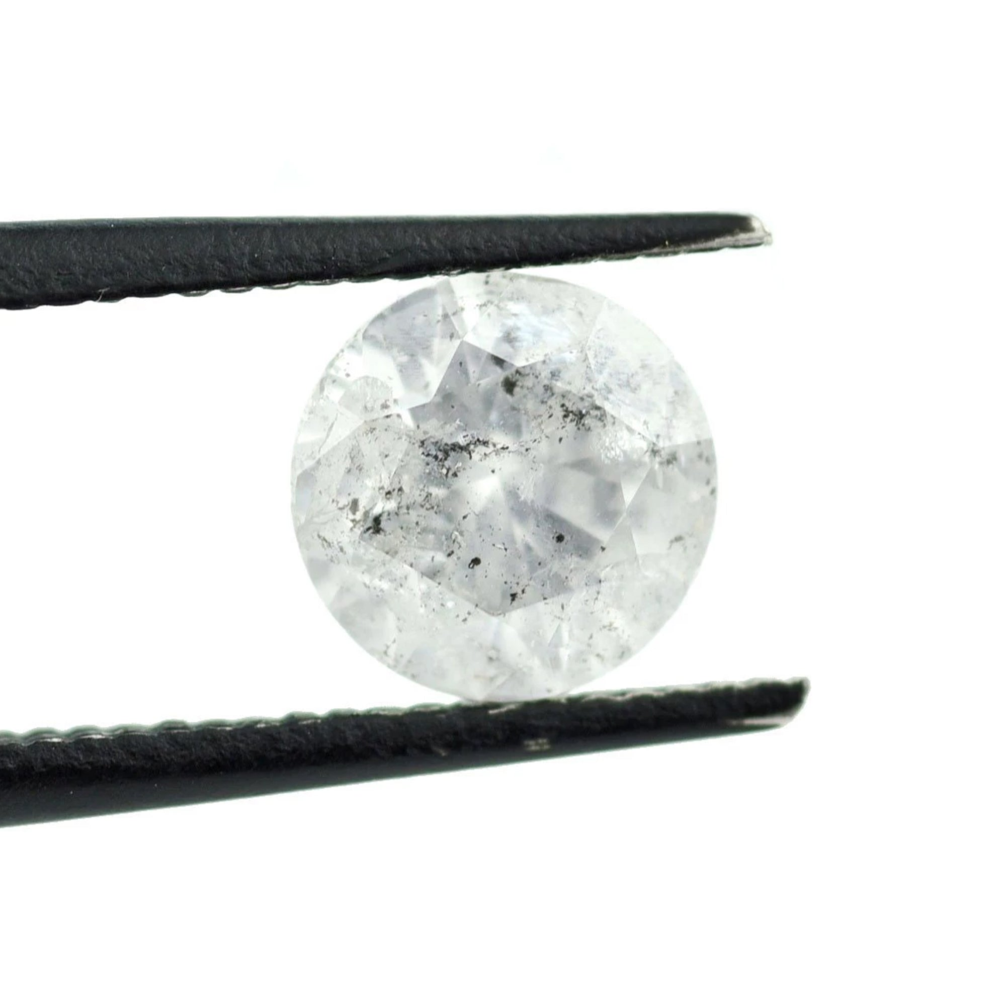1.65ct White Gray Brilliant Cut Round Diamond, 7.6mm