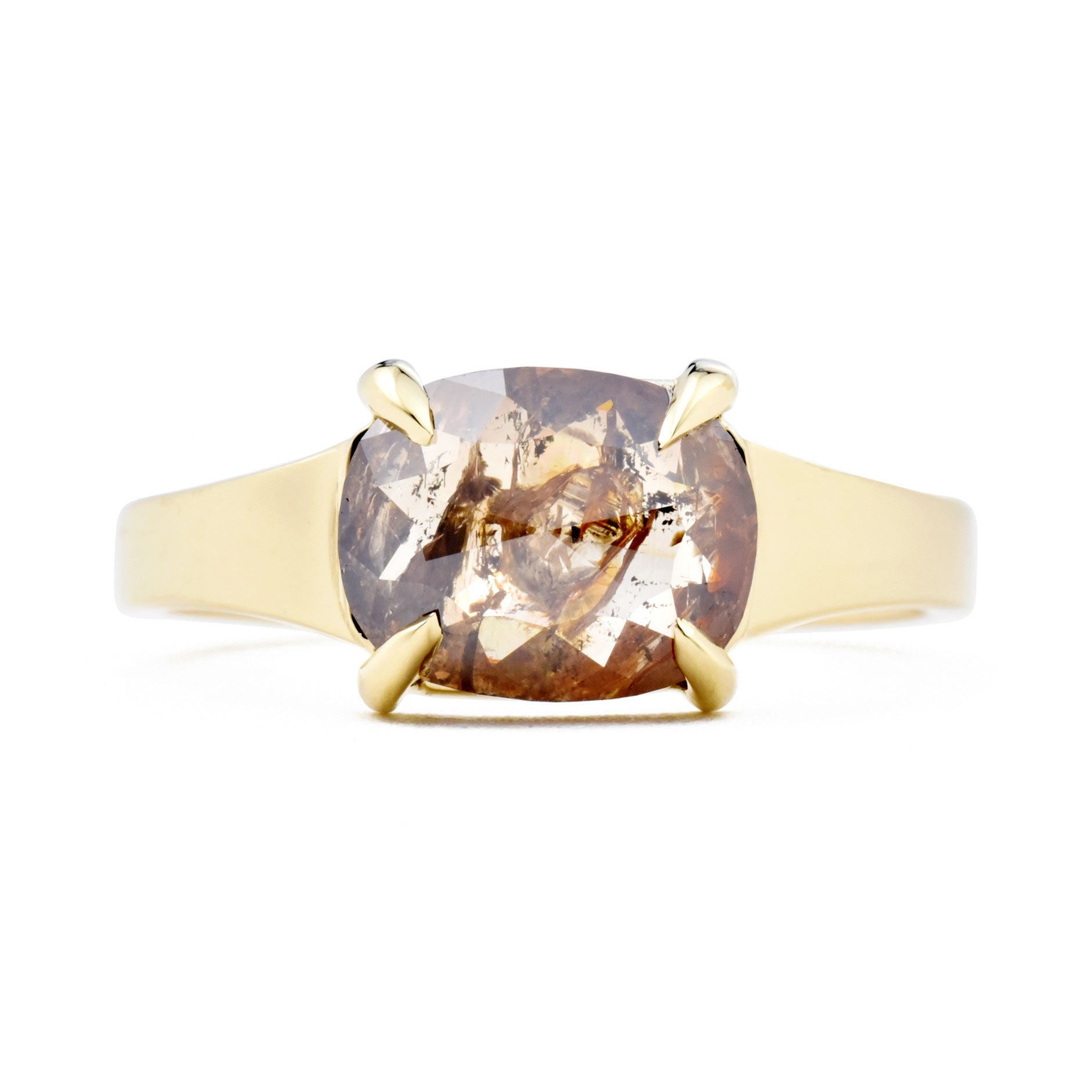 Astrid Reddish Brown Rose Cut Cushion Diamond Ring