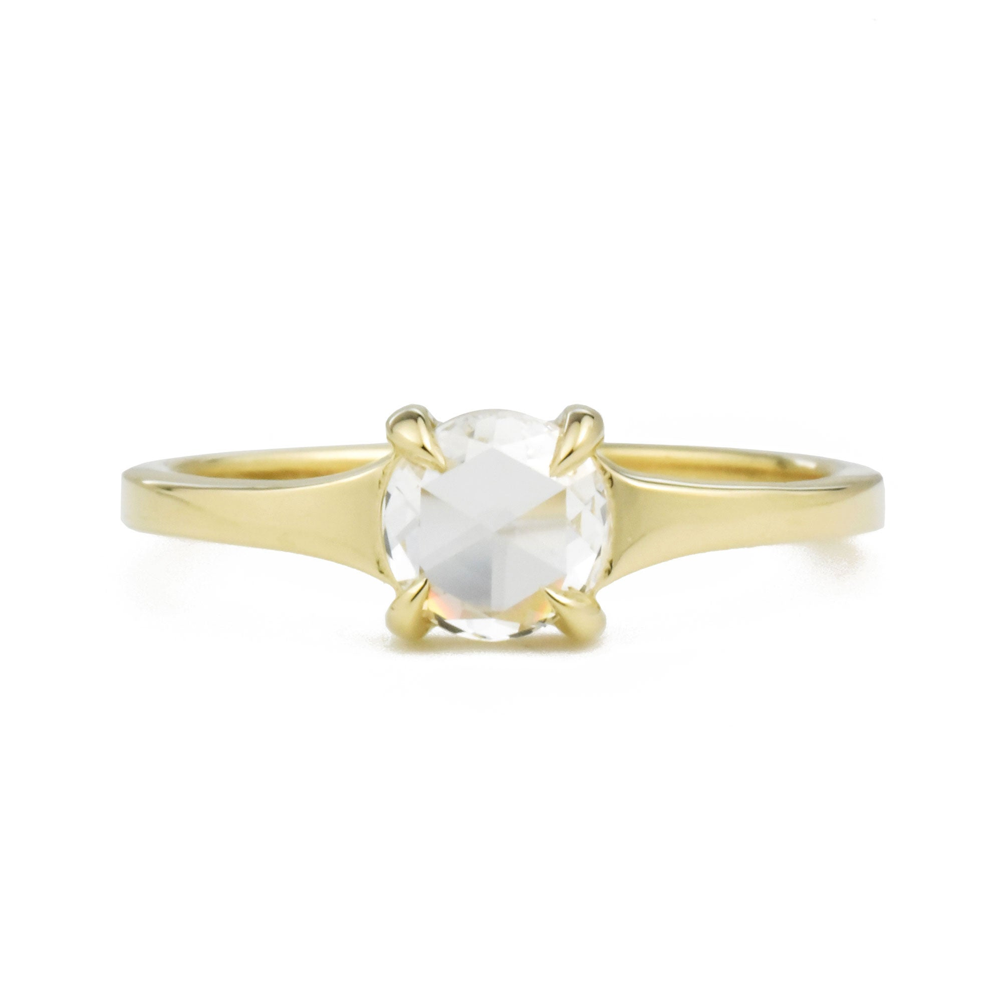 Astrid Colorless Rose Cut Diamond Ring