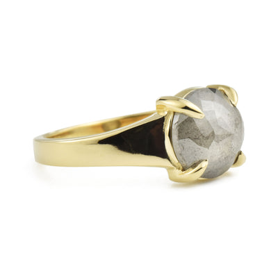 Astrid Gray Rose Cut Diamond Ring