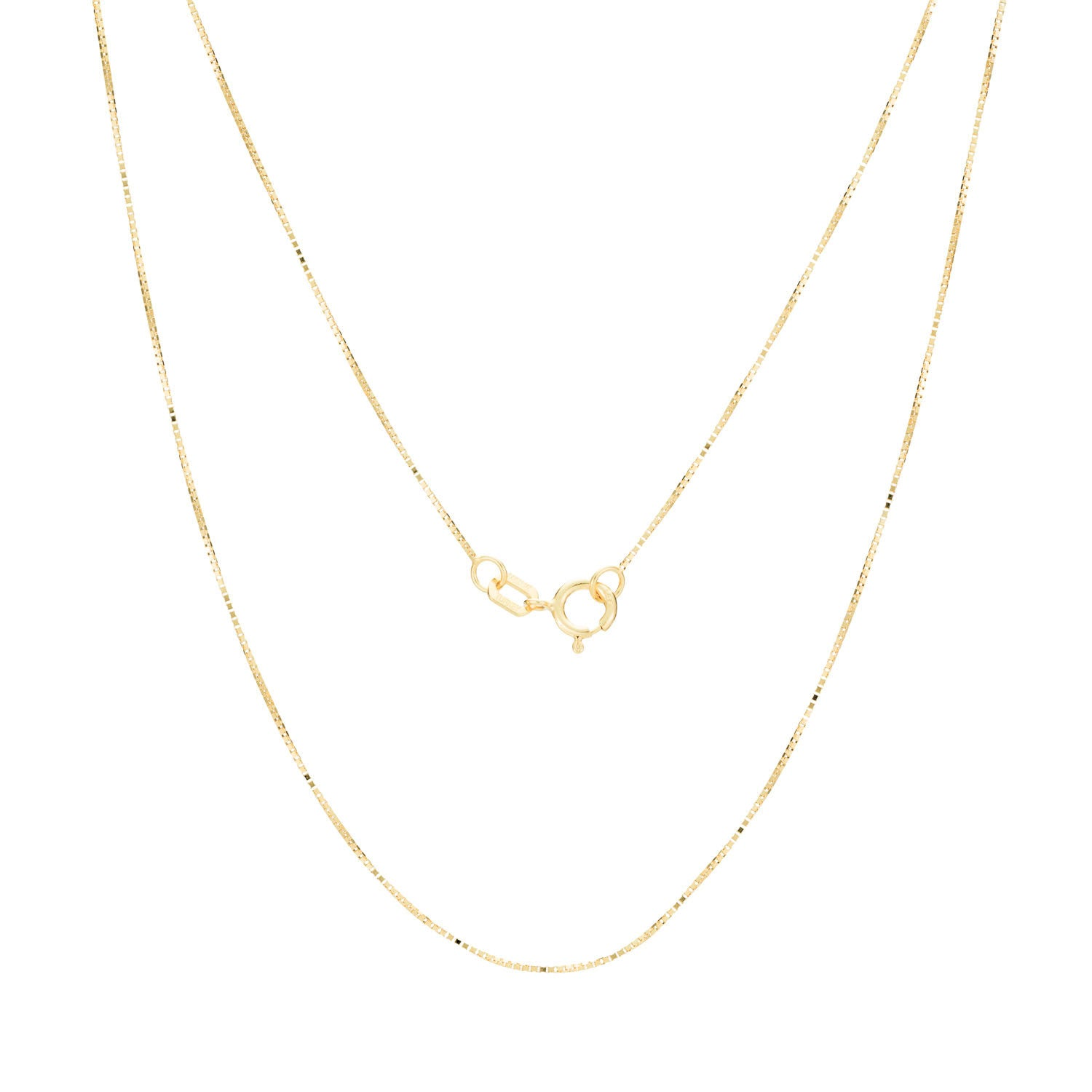 14K Gold Baby Box Chain