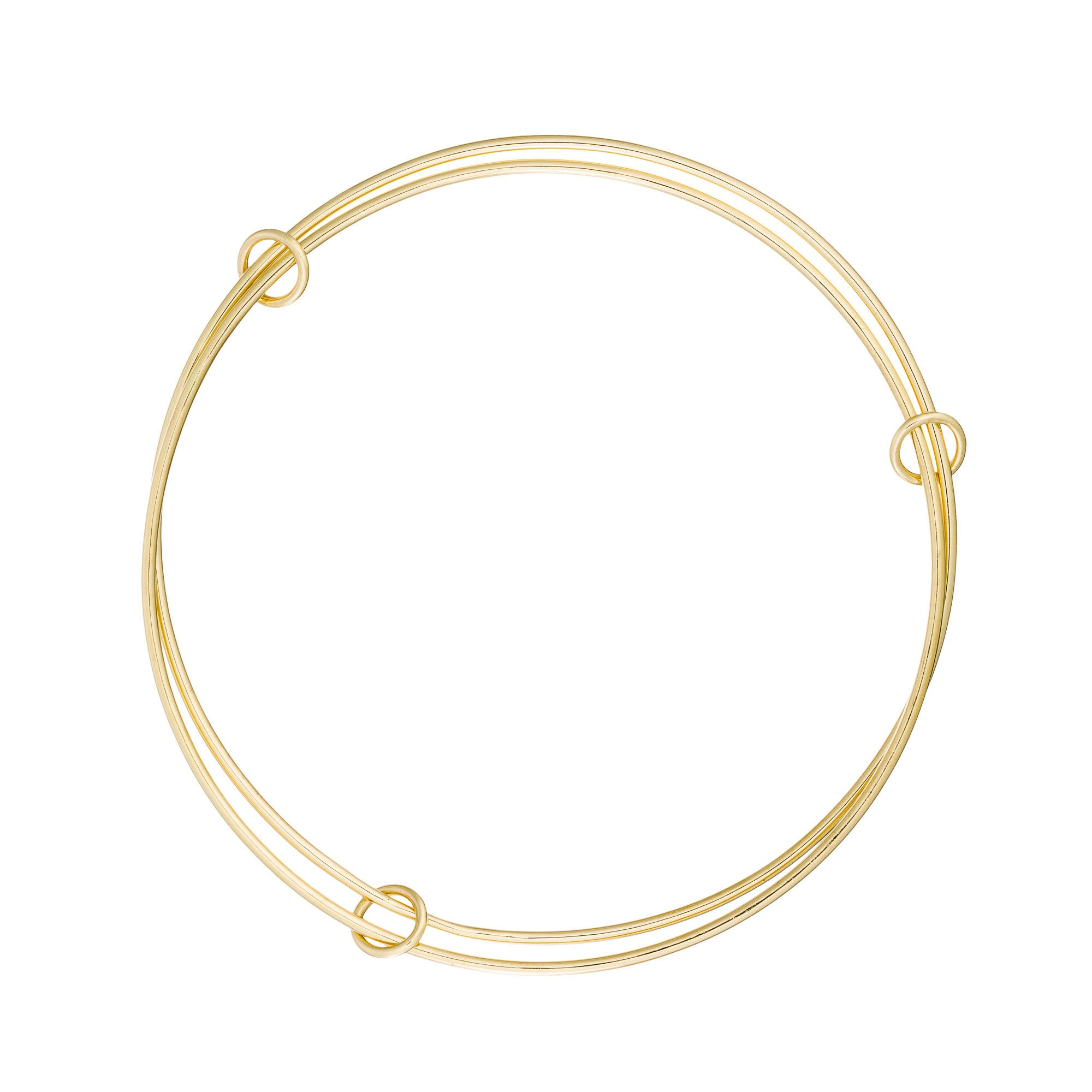 14K Gold Connected Bangles