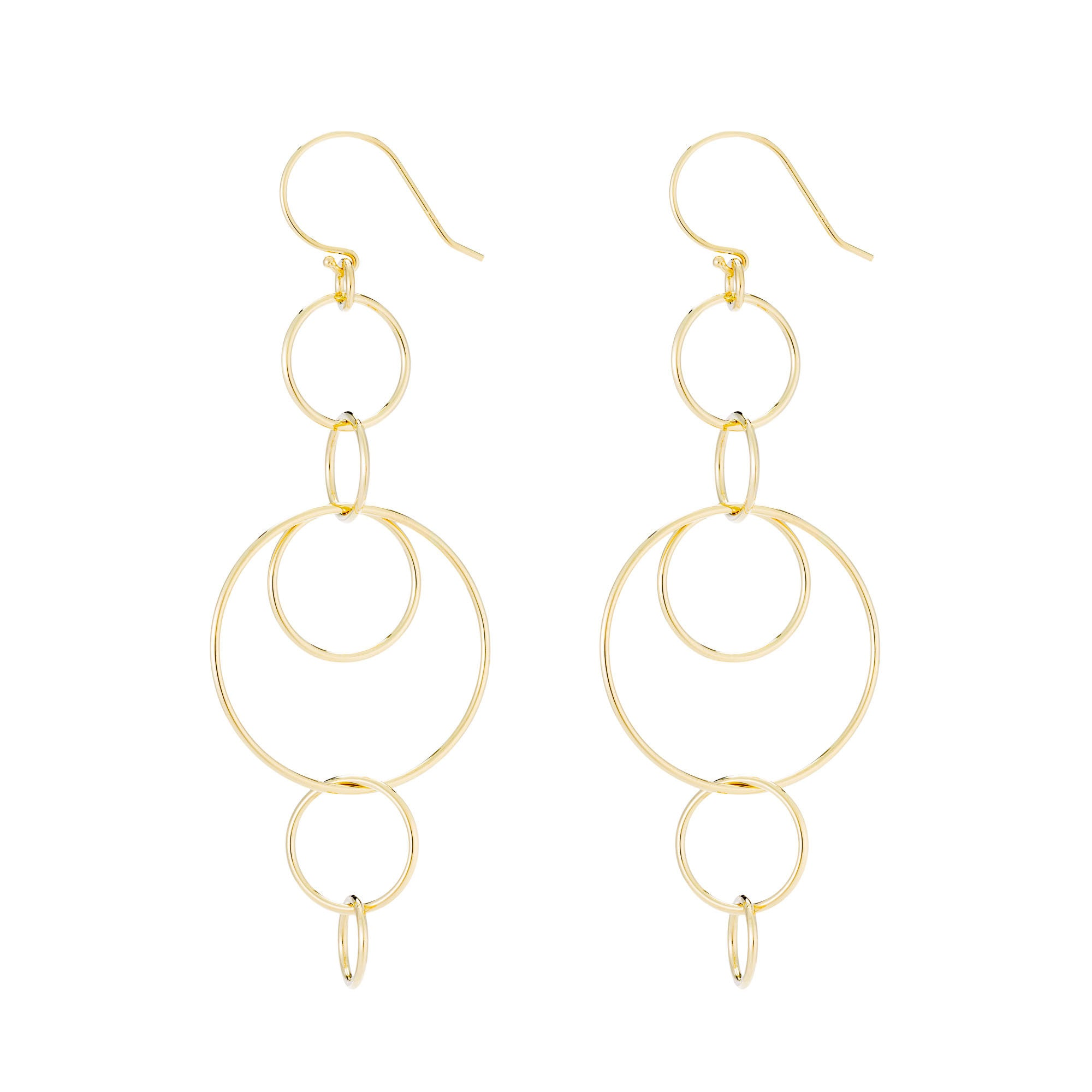 14K Gold Champagne Link Earrings
