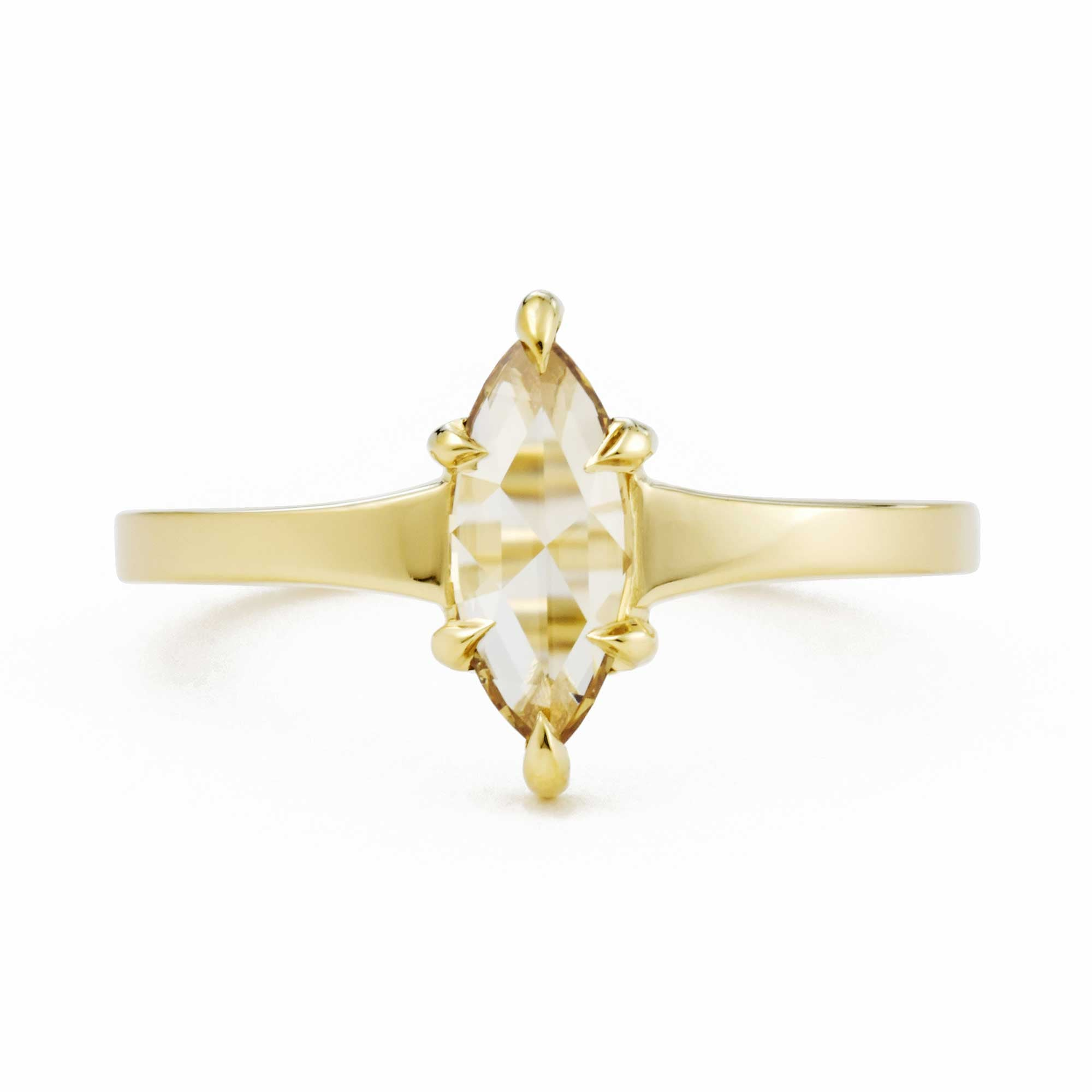 Marquis champagne diamond ring