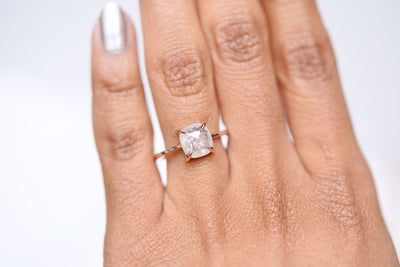Cleo Icy Rose Cut Diamond Engagement Ring