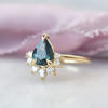 1.11ct Luna Pear Blue Sapphire and Diamond Engagement Ring (Size 6)
