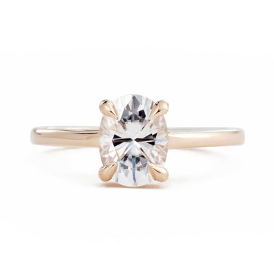 Ella Oval 1.5ct Moissanite Solitaire Engagement Ring