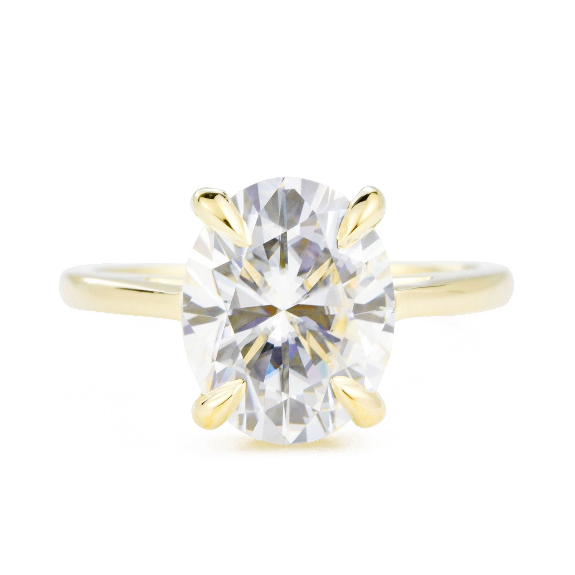 Ella Oval 3ct Moissanite Solitaire Engagement Ring