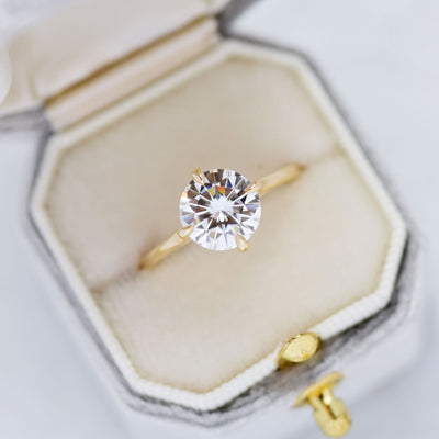 Ella Round 1.9ct Moissanite Solitaire Engagement Ring