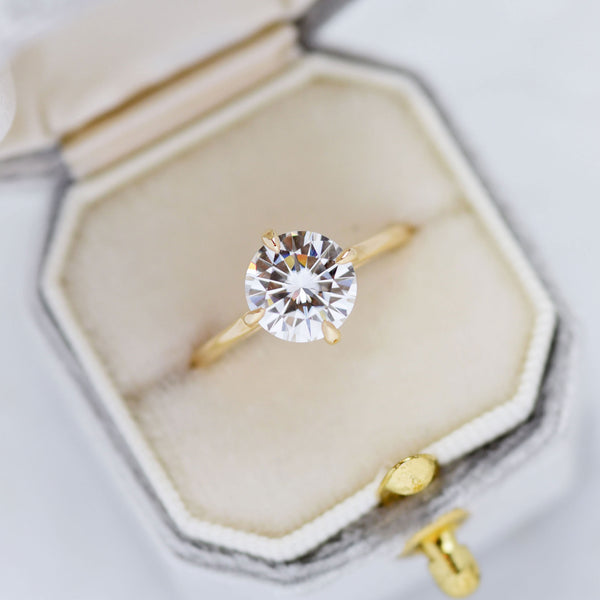 Ella Floating Round 2ct Moissanite Solitaire Engagement Ring