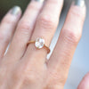 Eva Rose Cut Oval 1.10ct Moissanite Engagement Ring on hand