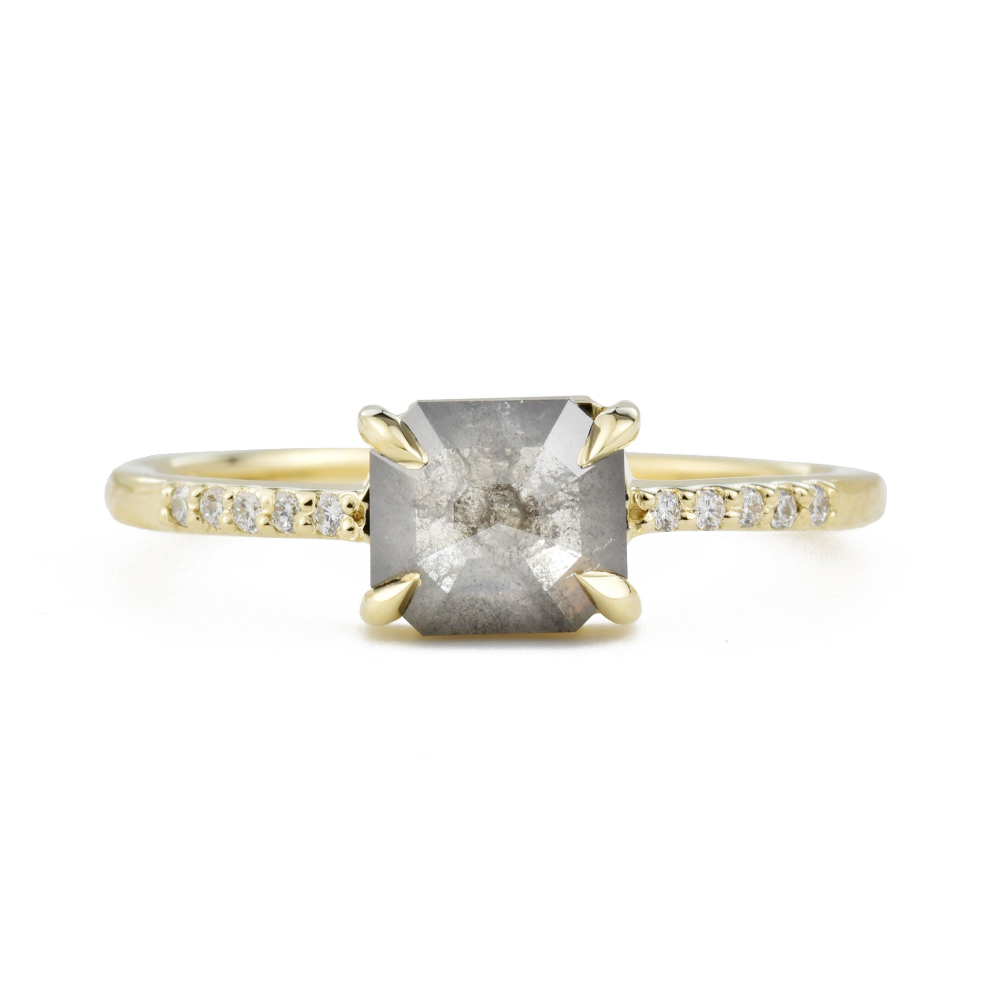 Aria Gray Octagon Diamond Engagement Ring