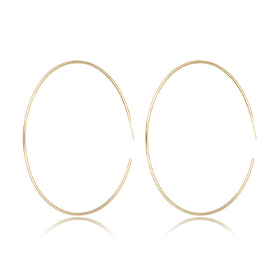 "14K Gold Extra Large Hoops (3"")"