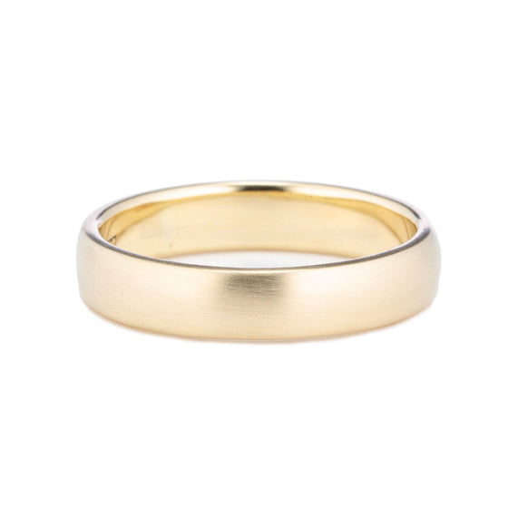 Classic Domed Wedding Band 4mm