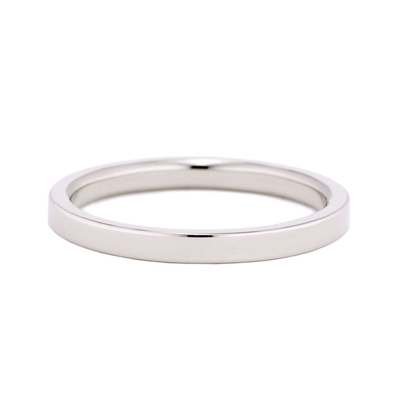 Flat Wedding Band 2mm