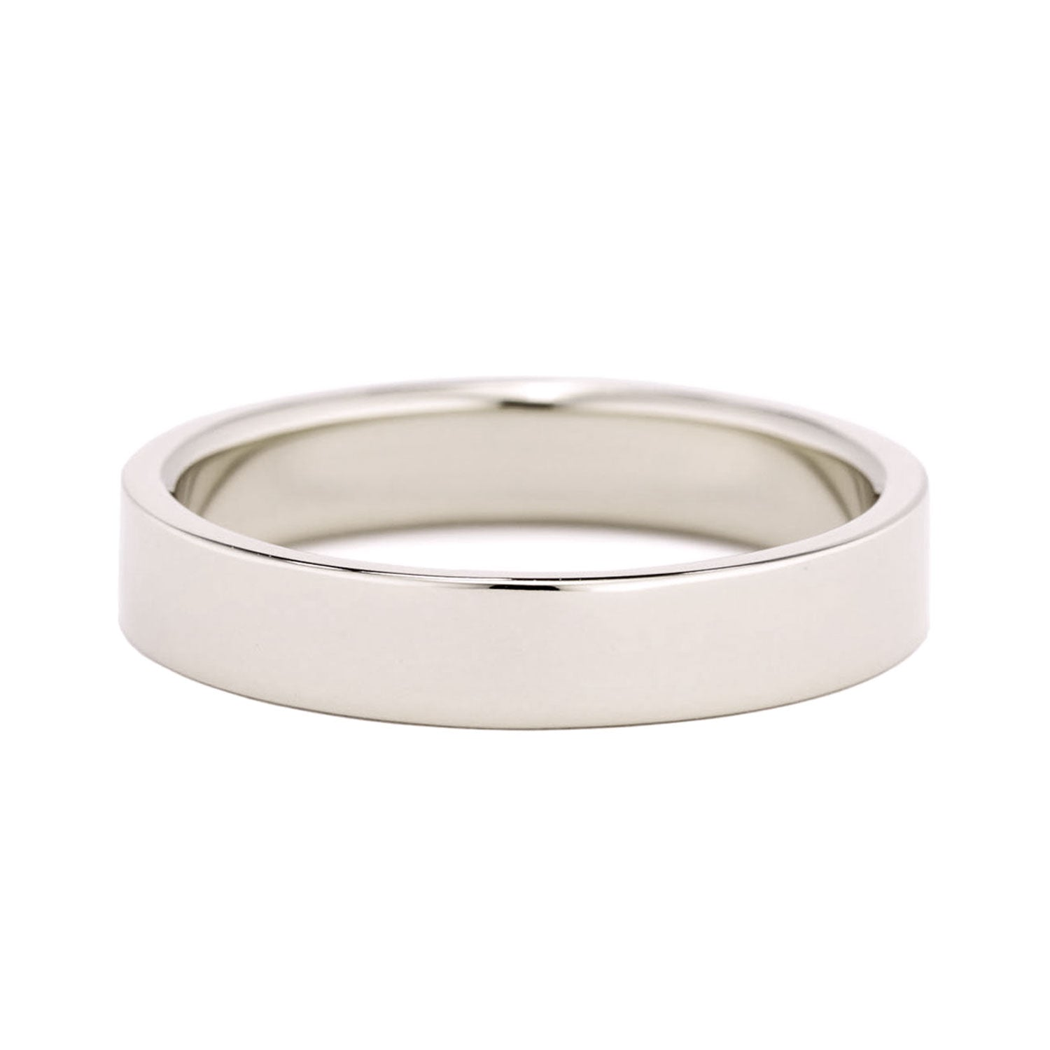 4mm Flat Wedding Band in yellow gold