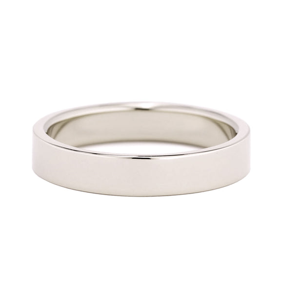 Flat Wedding Band 4mm