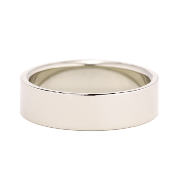 Men's Flat Wedding Band 6mm