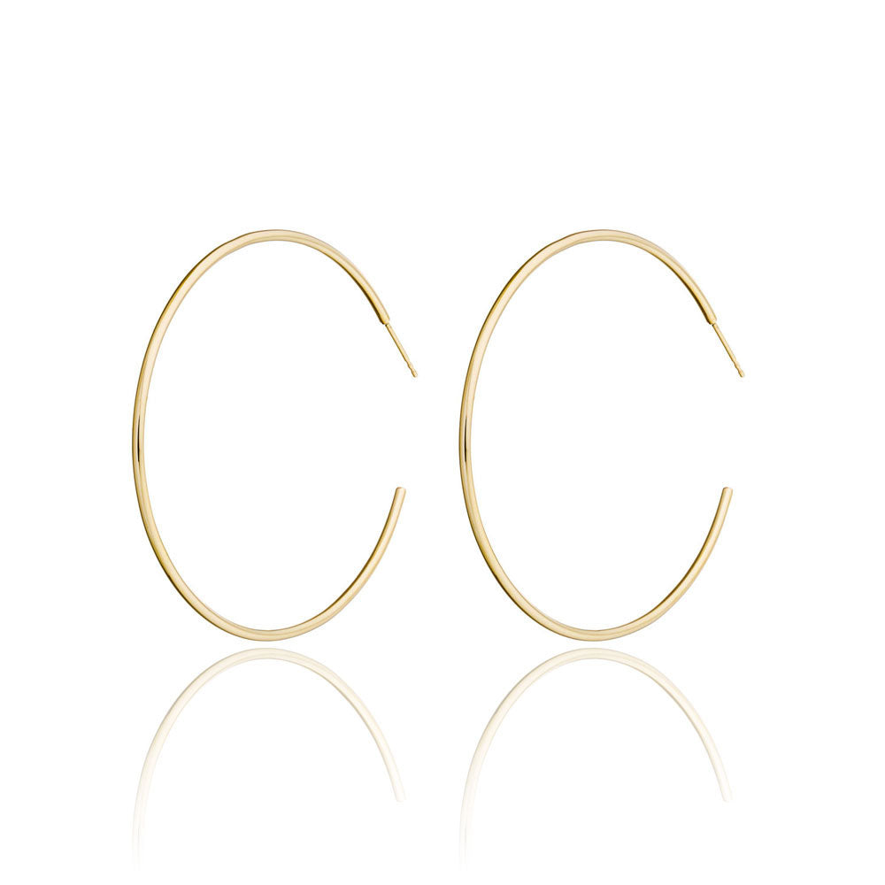 Valerie Madison 14k Yellow gold large two  inch hoop earrings