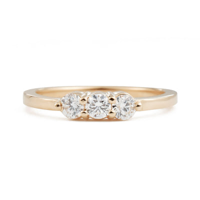Lily Three Stone Diamond Ring