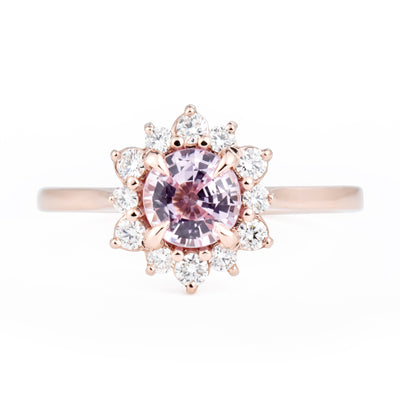 Marisol Pink Sapphire Canadian Diamond Engagement Ring