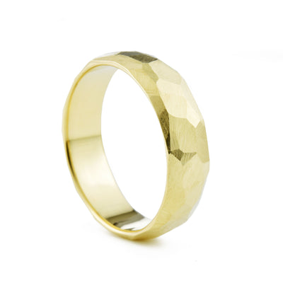 Men's 6mm Geo Wedding Band