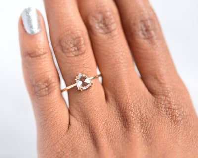 Cleo Double Claw Pear Diamond Ring