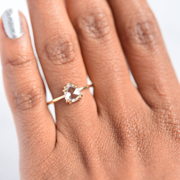 Eva Double Claw Pear Diamond Ring