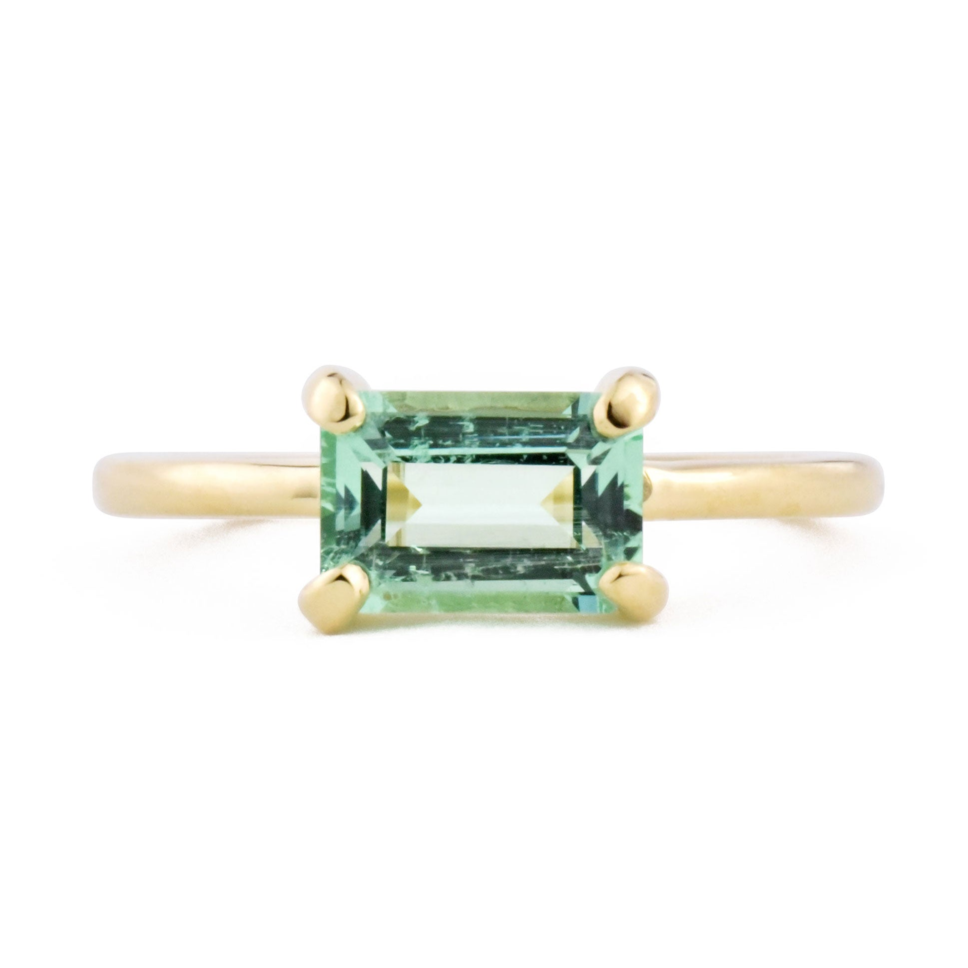 Eva Russian Emerald Ring from the front