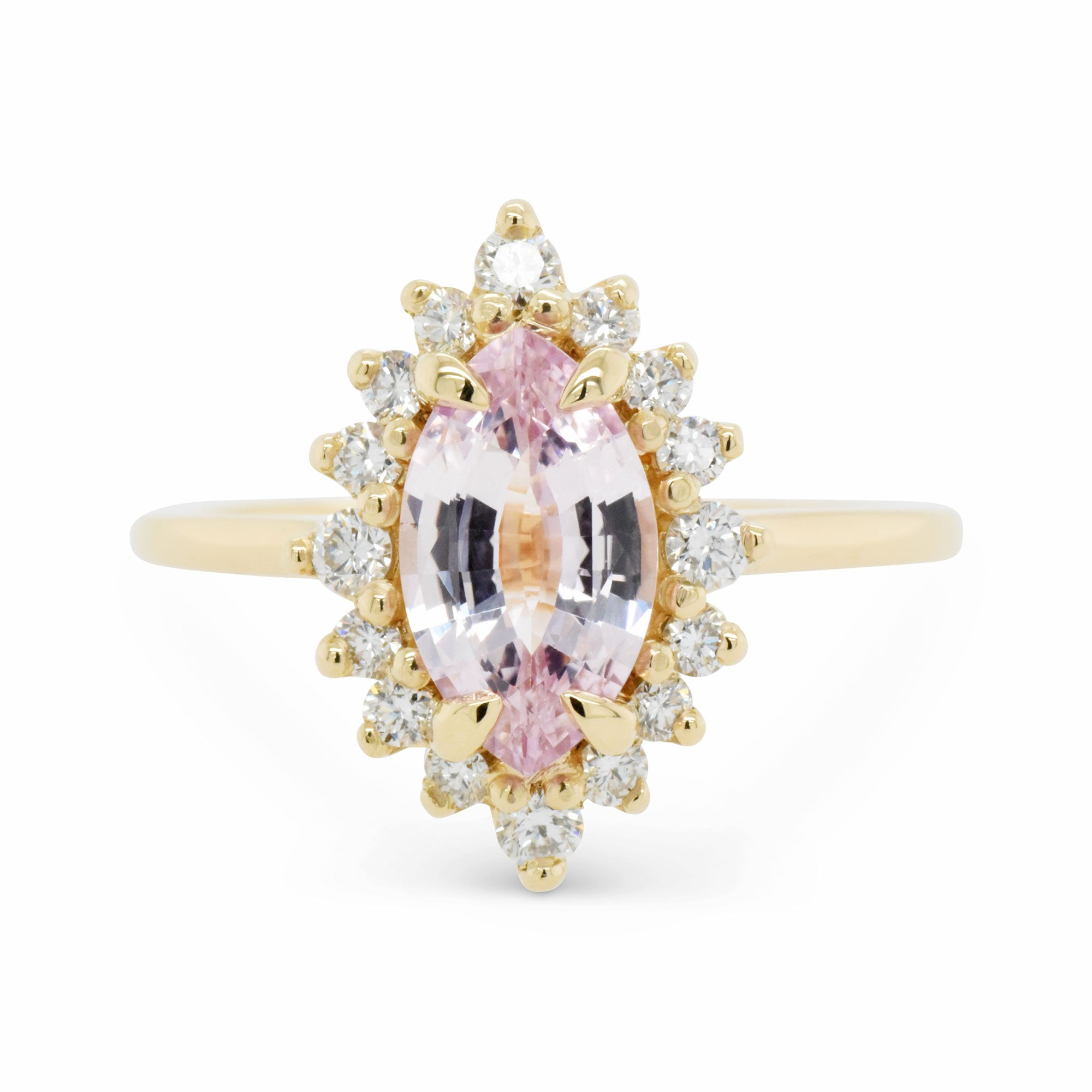 1.42ct Marisol Marquise Pink Sapphire Engagement Ring (Size 6.5)