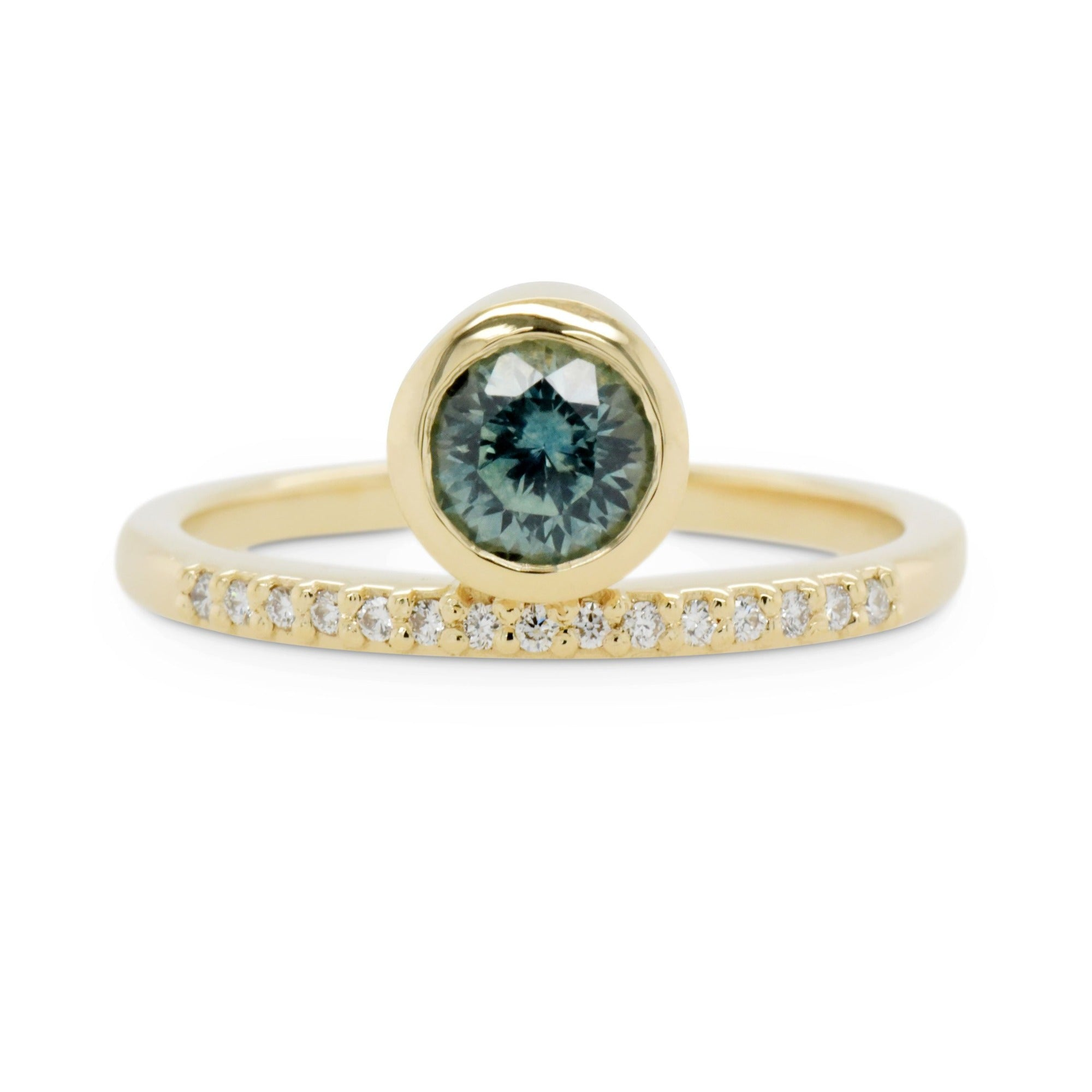 0.65ct Juno Teal Sapphire Engagement Ring