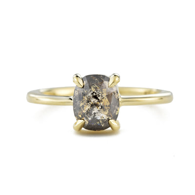 Cleo Pepper Rose Cut Diamond Engagement Ring