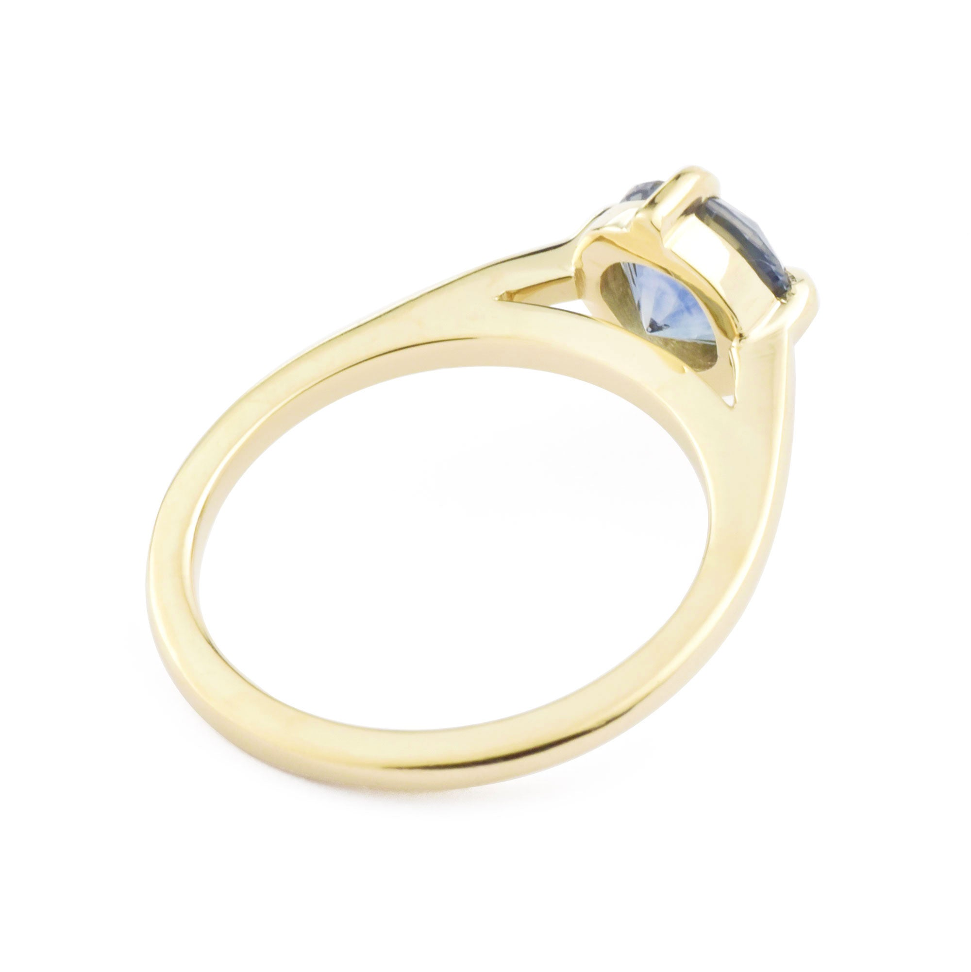 1.62ct Ella Floating Montana Sapphire Solitaire Engagement Ring (size 6)