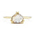 Eva Double Claw Brown Pear Diamond Ring