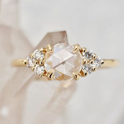 0.63ct Bella Rose White Diamond Cluster Engagement Ring (Size 6)