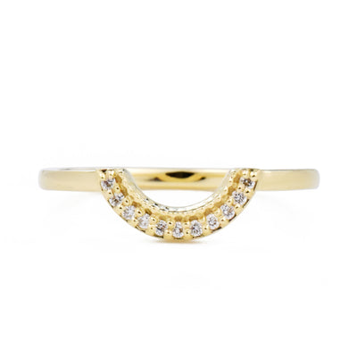 Selena Rose Cut Round Diamond Semi-Halo Ring Set