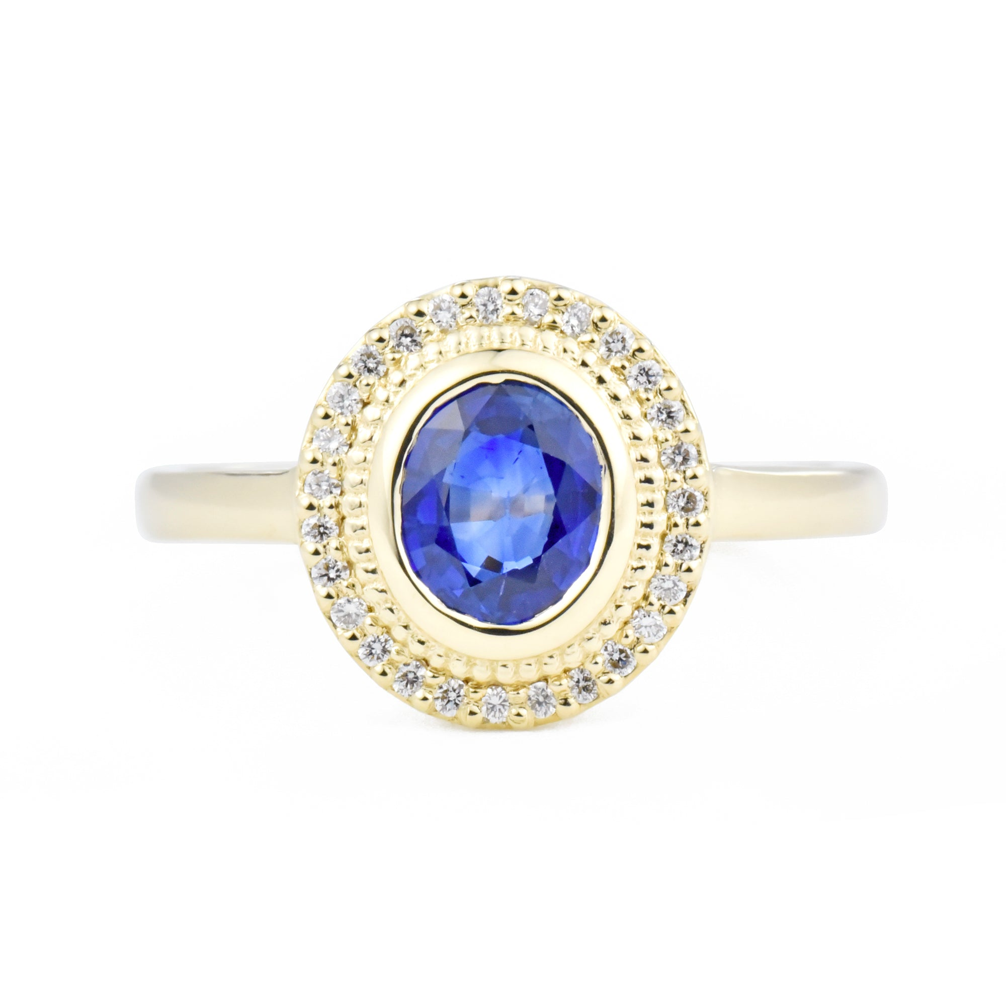 Selena Blue Sapphire Engagement Ring