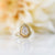 Selena Geometric Rose Cut Diamond Halo Engagement Ring