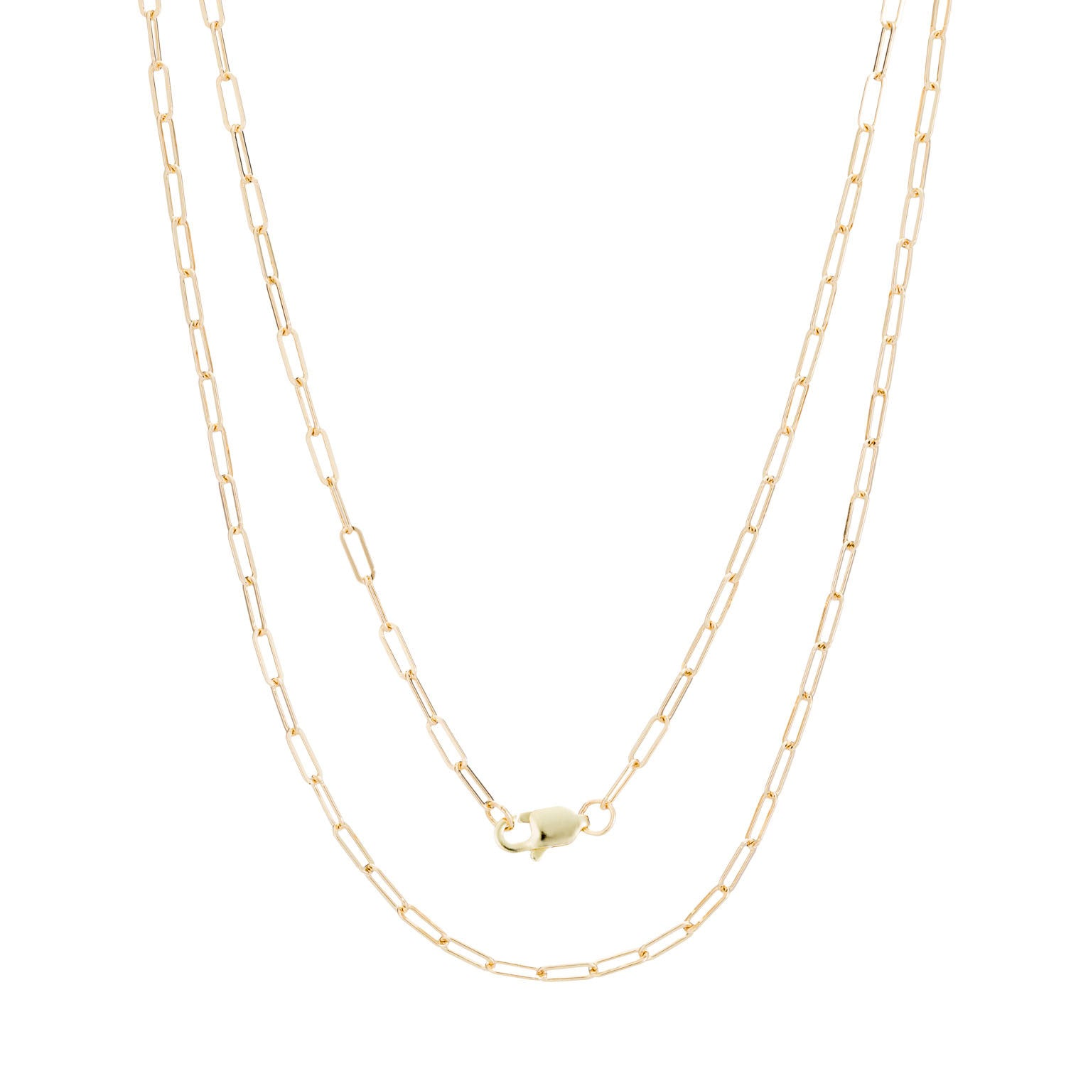14K Gold Baby Flat Chain Necklace