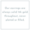 14K Gold Concave Disc Dangling Earrings