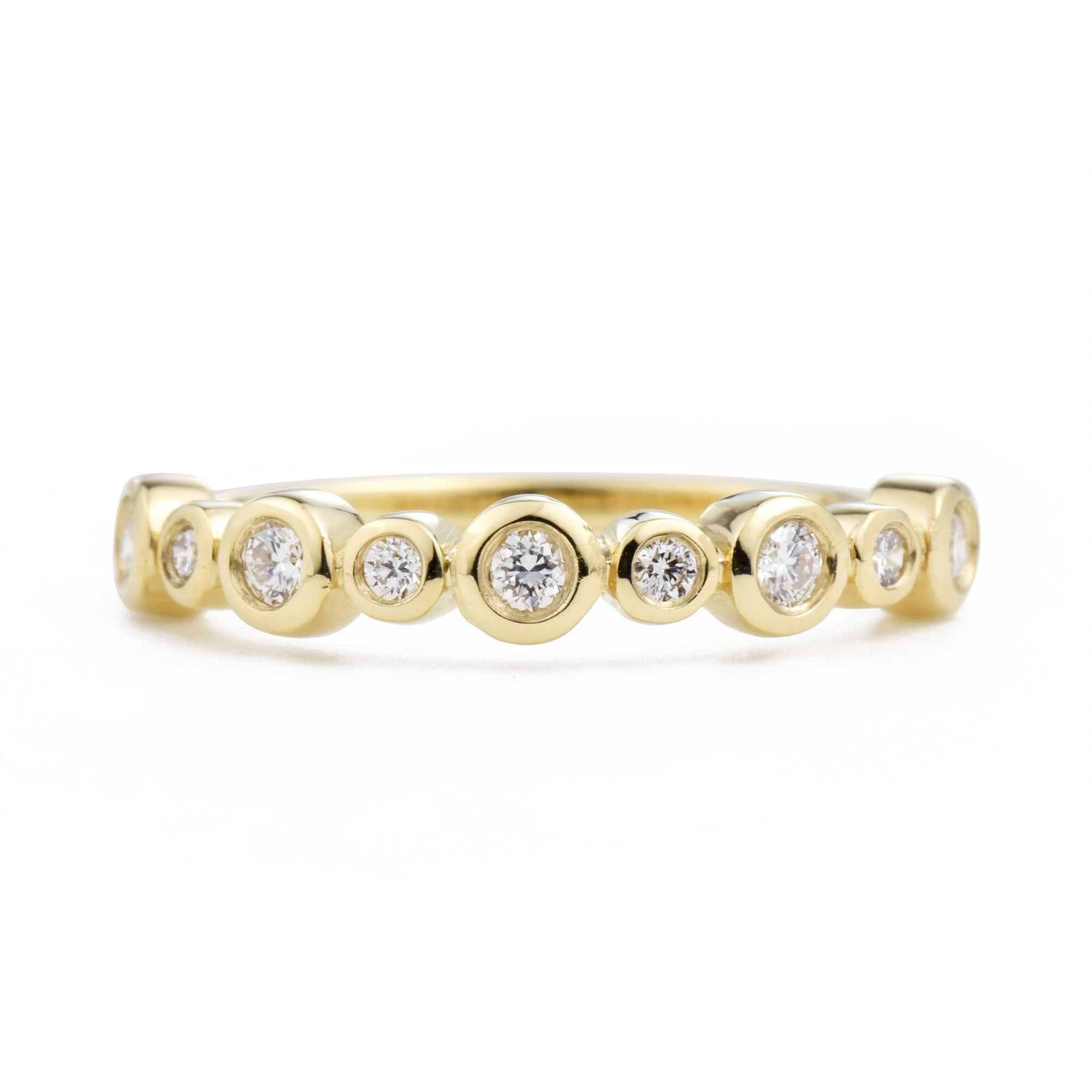 Solstice Diamond Band in yellow gold