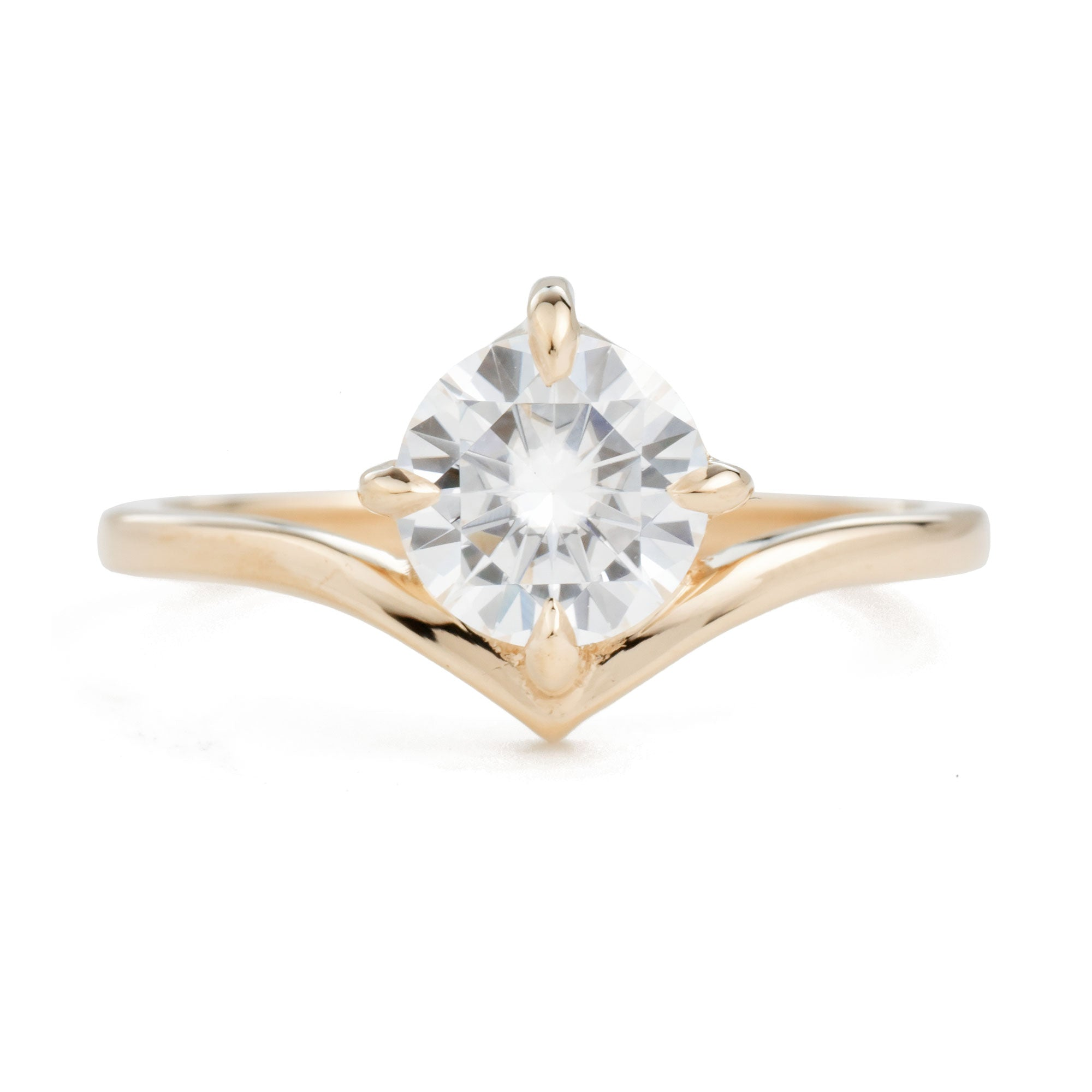 14k Rose Gold SuperNova Moissanite Engagement Ring