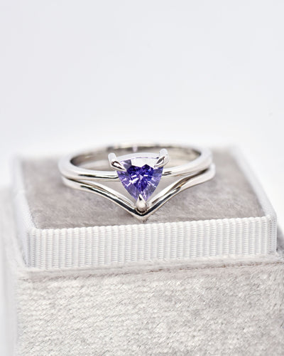 Eva Purple Sapphire Trillion Engagement Ring