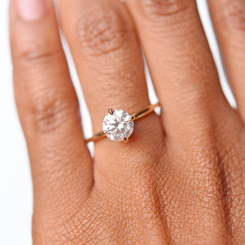SIZE 5.75 - Vera 1ct Moissanite Solitaire Engagement Ring