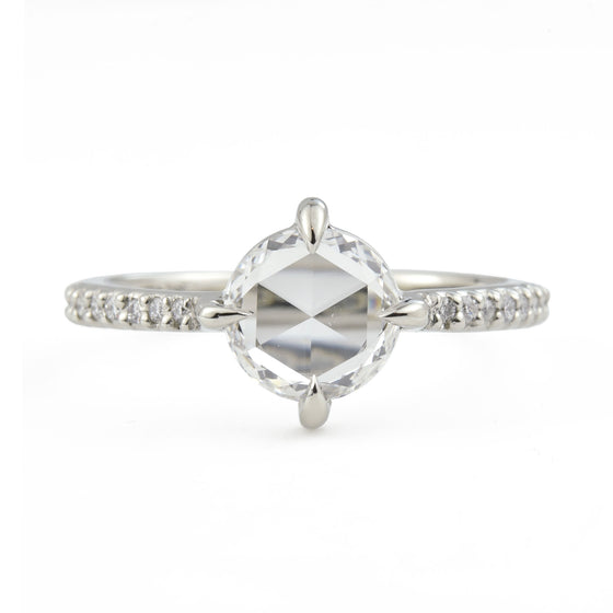 Aria Rose Cut Diamond Engagement Ring (1.05 tcw)